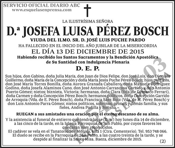 Josefa Luisa Pérez Bosch